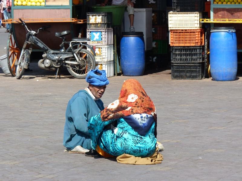 Conteur sur la place Jemaa El Fna