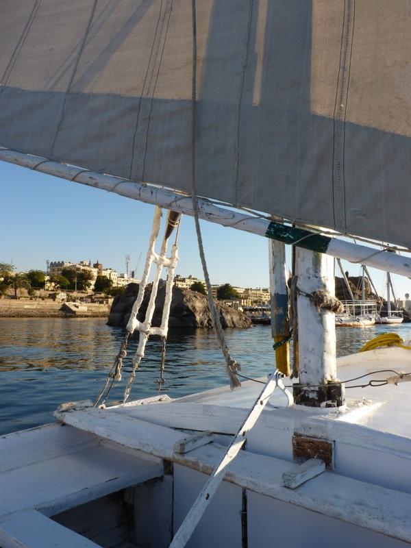 Rives du Nil depuis une felouque