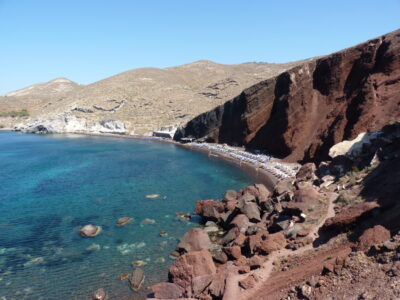 Red Beach à Santorin - Akrotiri