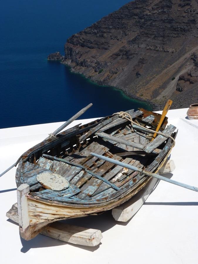 Barque à Santorin