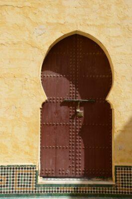 Porte dans le mausolée de Moulay Ismail - Meknès