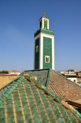 Minaret depuis la médersa Bou Inania de Meknès