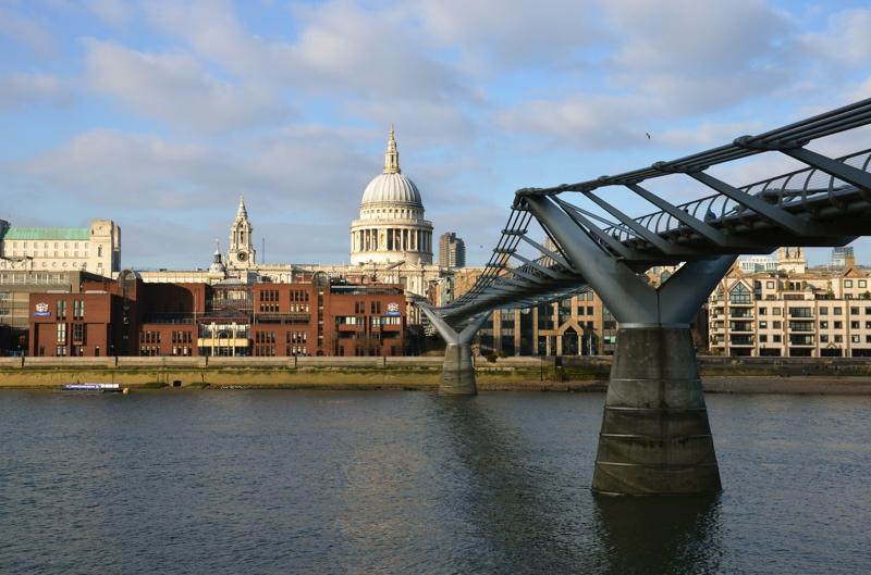 cathedrale saint paul millenium bridge