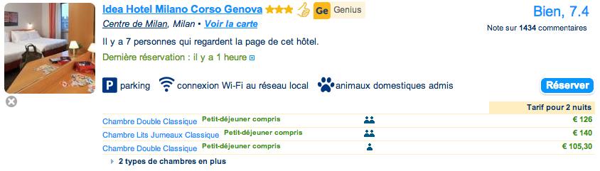 Avantage genius chez for Reservation hotel italie