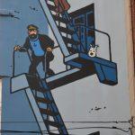 tintin milou bruxelles street art