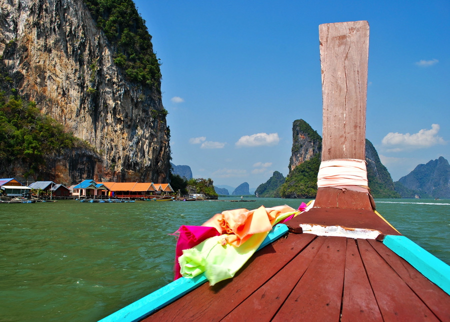 long tail boat thailande