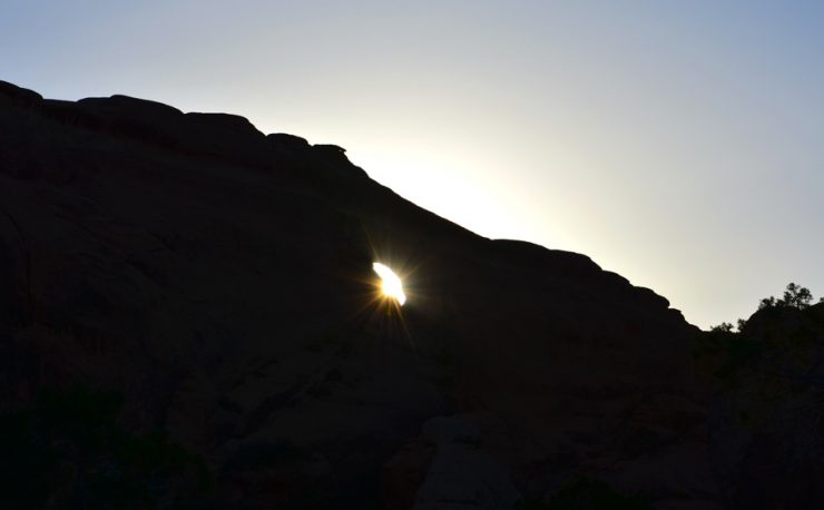 coucher soleil arches national parc