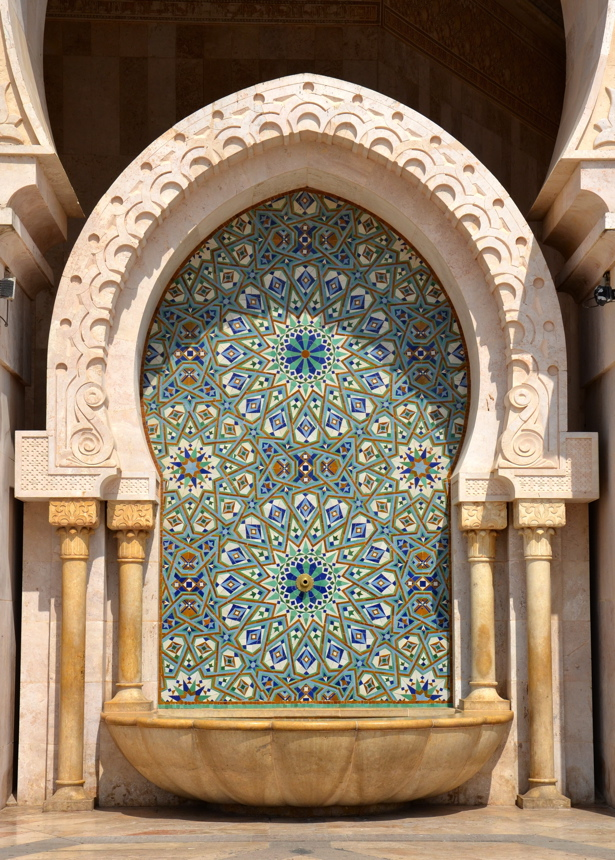 fontaine mosquée hassan ii
