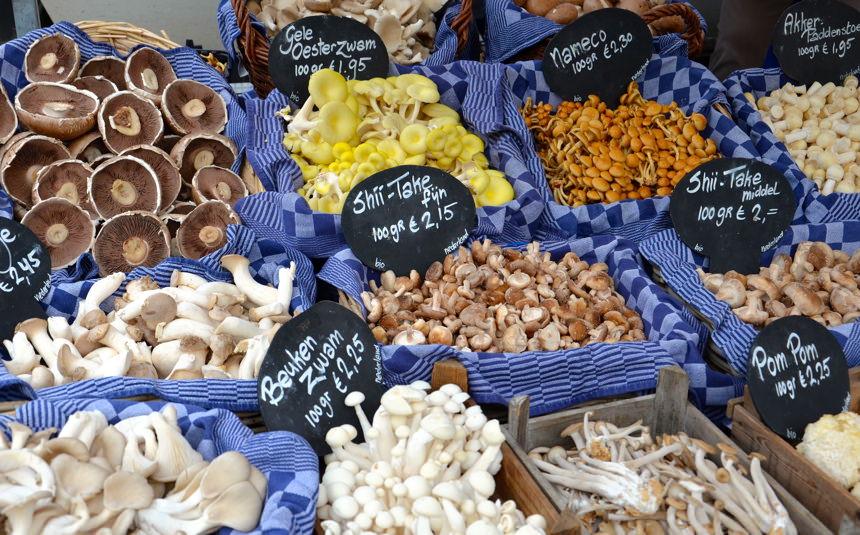 champignons marché amsterdam