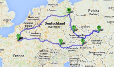 parcours roadtrip europe