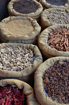 marché épices inde