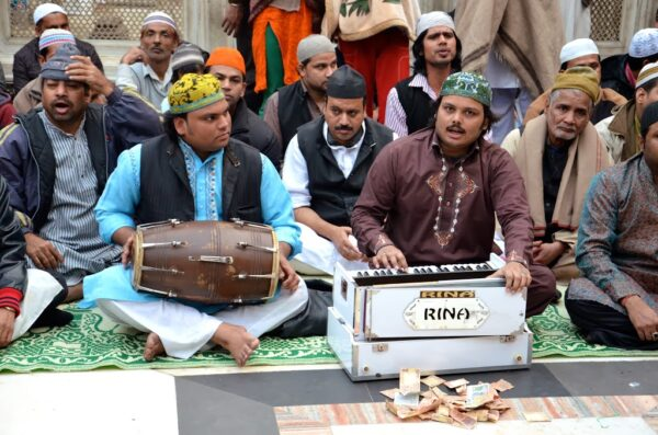 Qawwalî au dargah Nizamuddin de Delhi