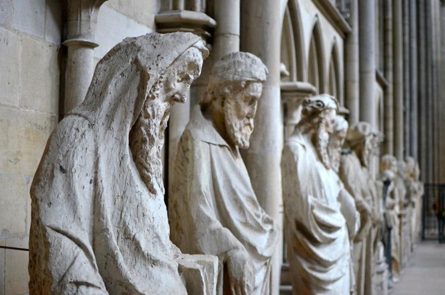 statues cathédrale rouen