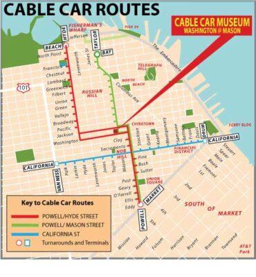 Carte cable car de San Frnacisco