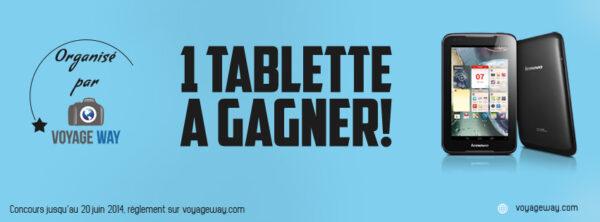 Jeu concours: une tablette tactile à gagner!