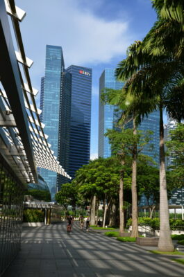 Le long de la baie de Singapour