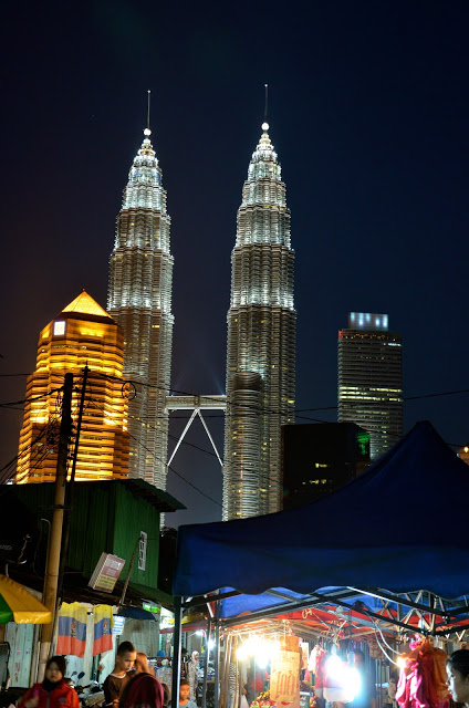 Depuis le night market de Kampung Bharu