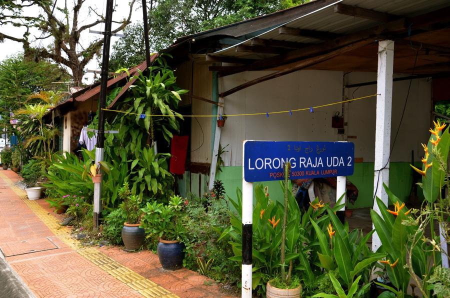 Une rue du quartier de Kampung Baru