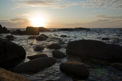 Coucher de soleil sur l'île de Bréhat