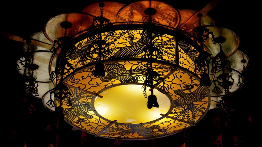Lanterne au Buddha Relic Tooth temple de SIngapour
