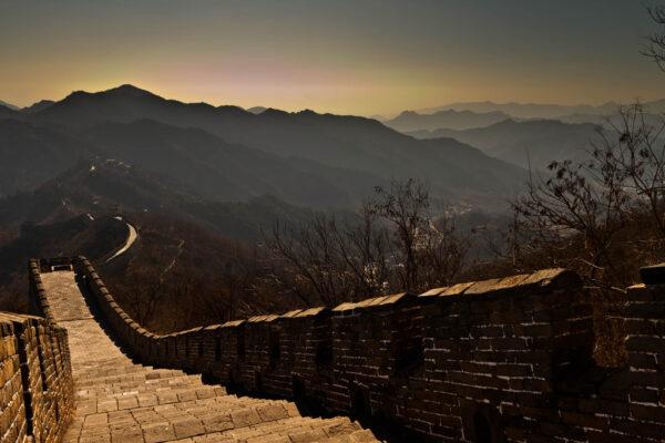 Fin de journée sur la Muraille de Chine