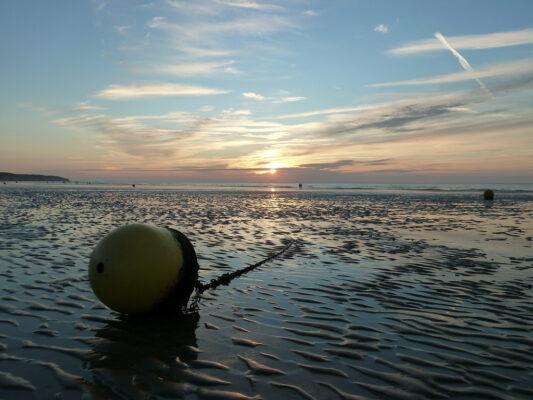 Coucher de soleil à Dieppe
