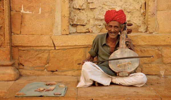 Dapu Khan, musicien merasi à Jaisalmer