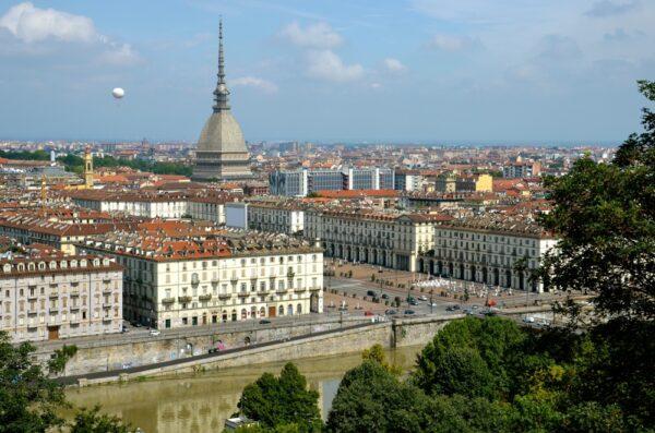 Vue sur Turin depuis Monte del Cappuccini