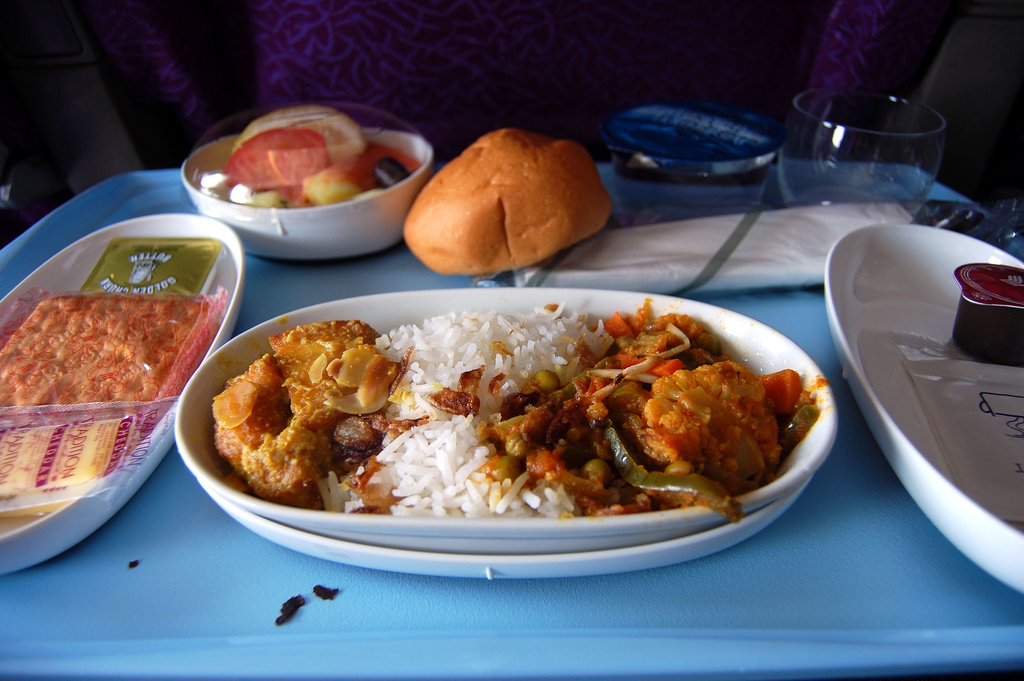Repas dans l'avion