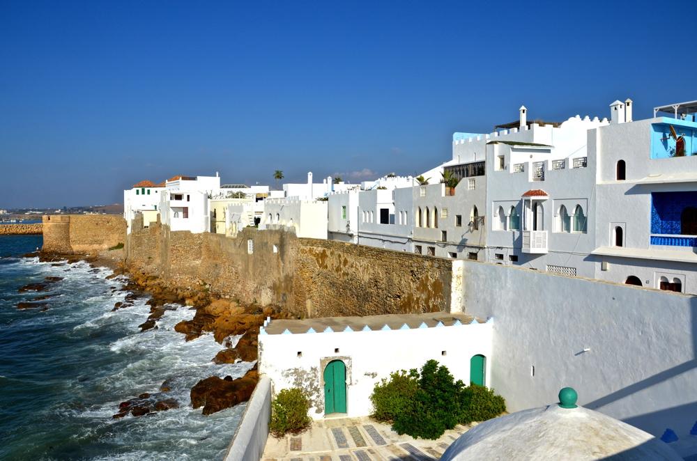 Ville Au Bord De La Mer Au Maroc