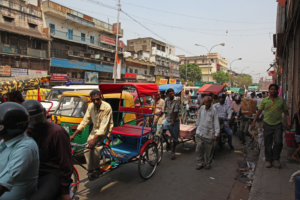 Circulation à Chandni chowk (Old Delhi)