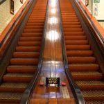 Escalator dans le tunnel Saint Anne à Anvers