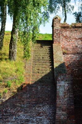 Escalier dans la citadelle de Lille