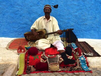 Musicien gnaoua à Rabat