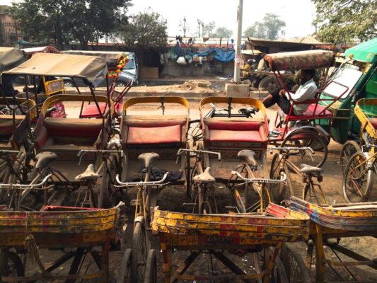 Rickshaw dans Old Delhi