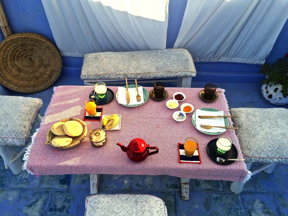 Petit déjeuner à Dar Tabia - Asilah