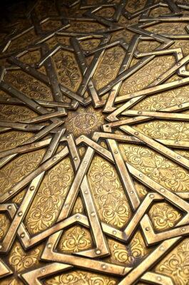 Porte du palais royal de Fès