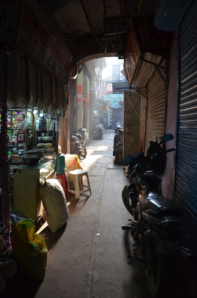 Ruelle calme de Old Delhi