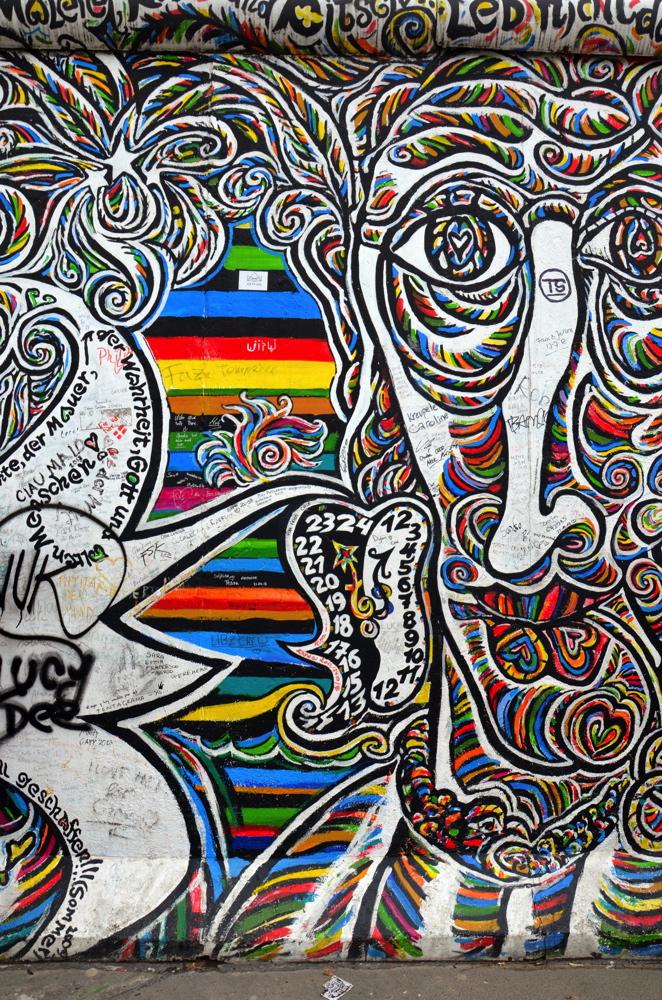Street art sur le mur de Berlin