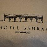 Serviettes à l'hôtel Sahrai à Fès