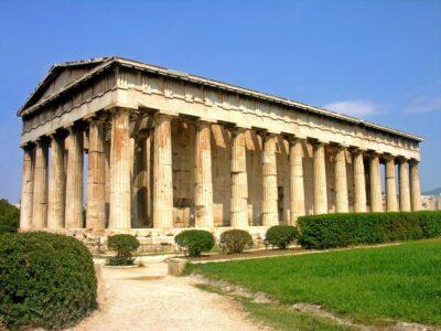 Temple sur l'Agora antique d'Athènes