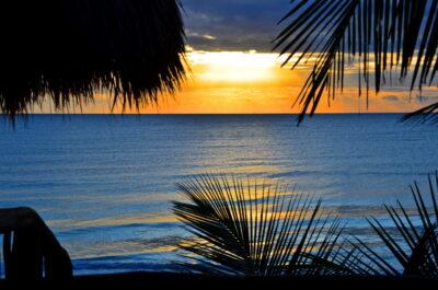 Sunset depuis l'hôtel Playa Canek