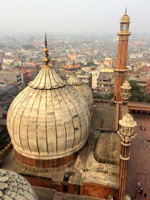 Vue depuis le minaret de la Jama Masjid de Delhi