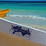 Bateaux sur la plage de Tulum