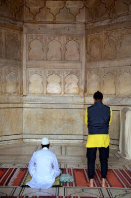 Prières dans la Jama Masjid