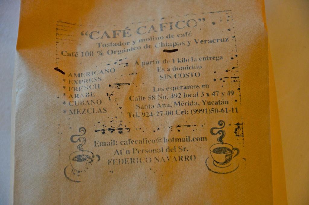Café du Chiapas à Mérida