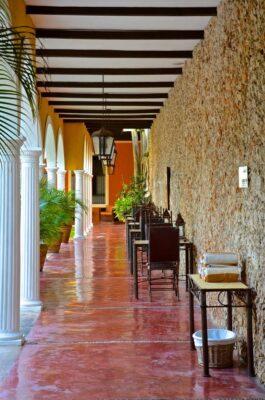 Cour intérieure de l'Hacienda Merida VIP