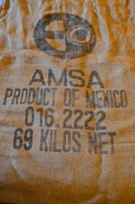Sac de café mexicain