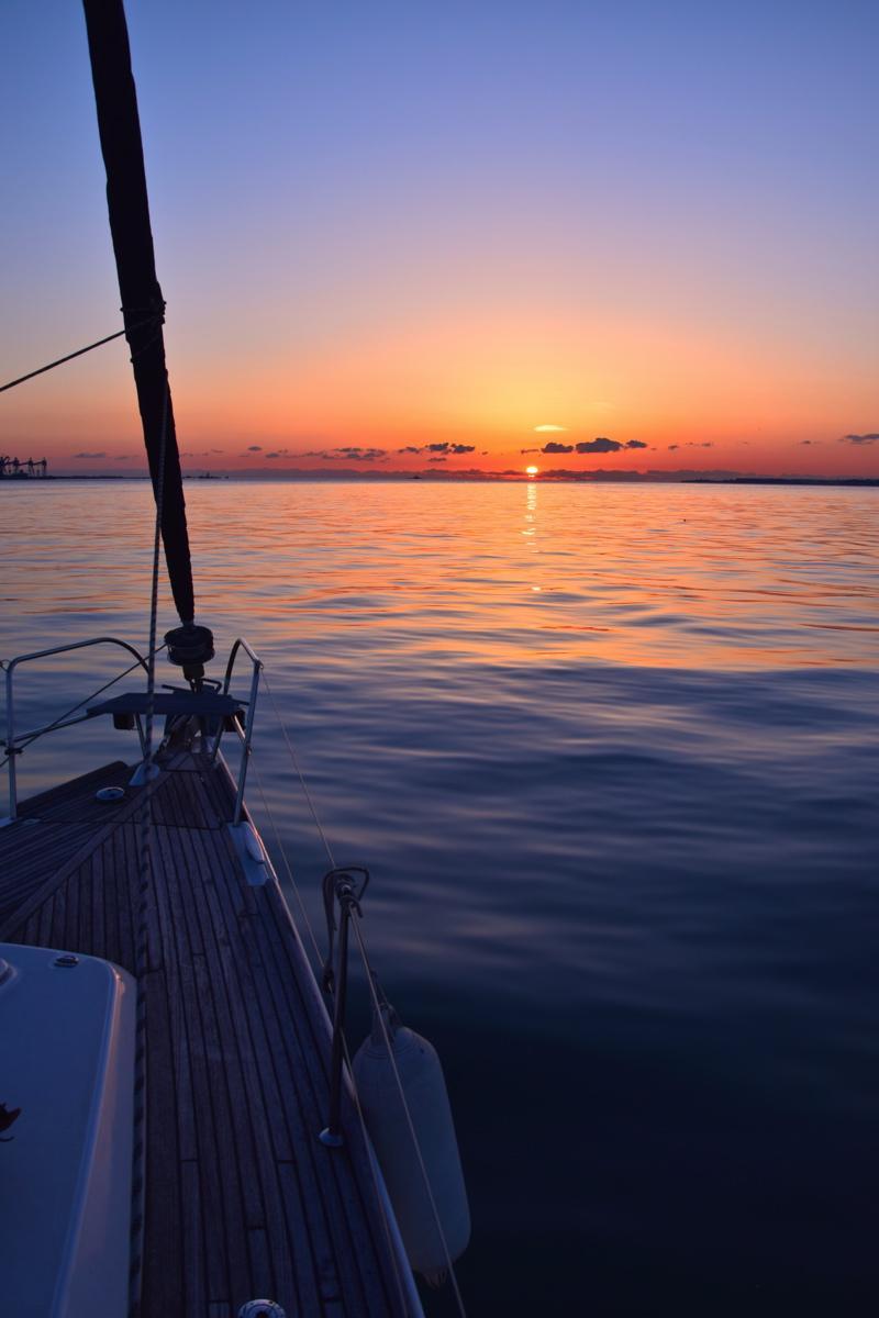 Sunset depuis le voilier
