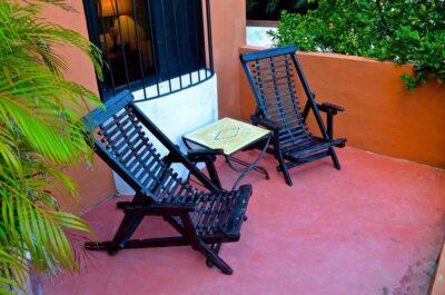 Terrasse de la chambre de l'Hacienda Merida VIP